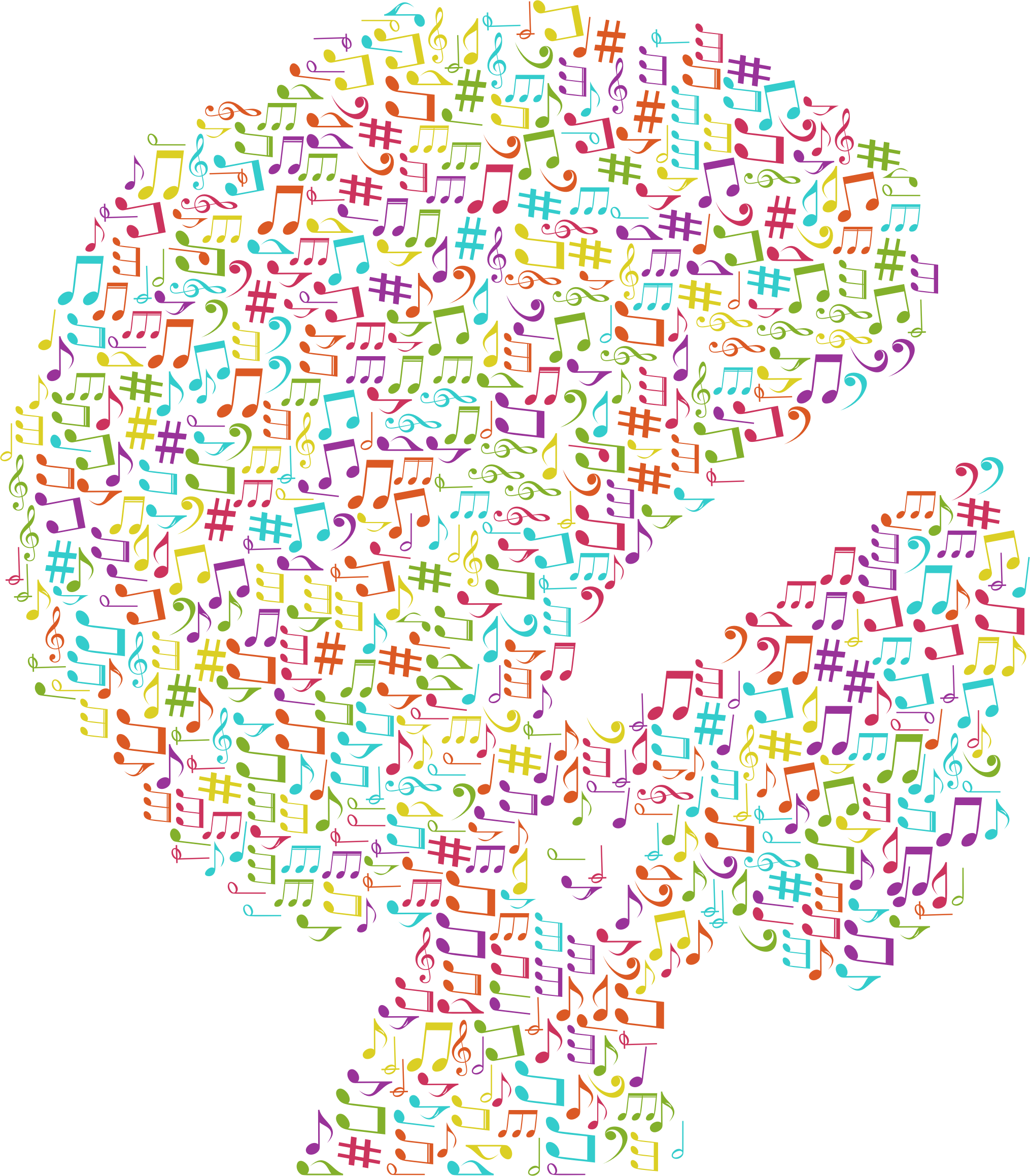 Woman musical notes no. Fitness clipart african american