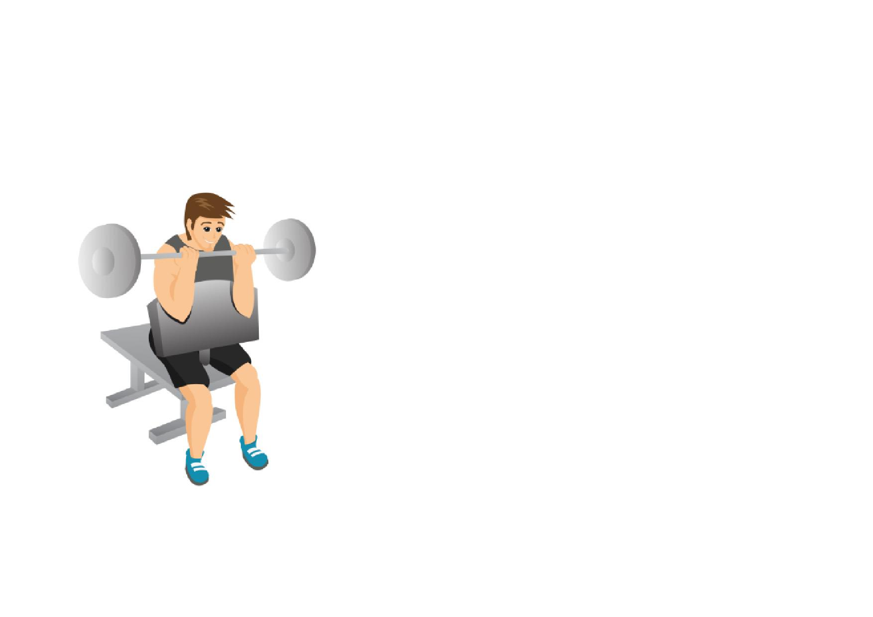 Fitness clipart bicep curl. Gym full workout page