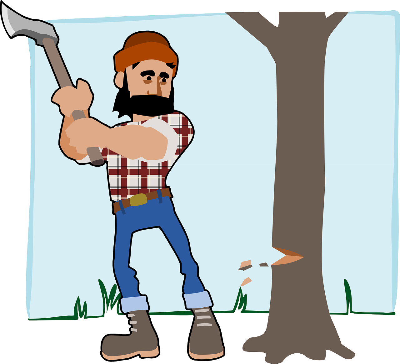 Lumberjack wood chopper