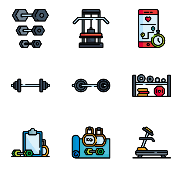 equipment icon packs. Gym clipart gym tool