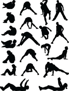 Workout anywhere anytime exercise. Fitness clipart hiit