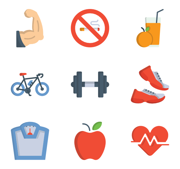 excercise icon packs. Gym clipart vector