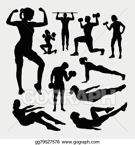 Eps illustration sport male. Gym clipart female fitness