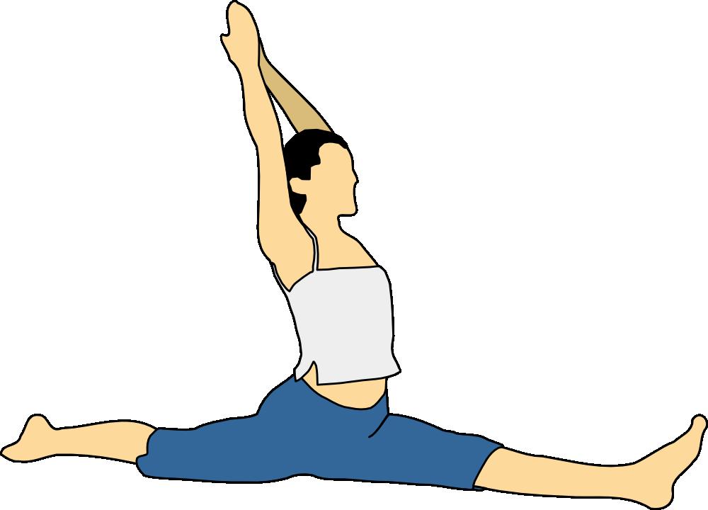Fitness clipart pilates. Onlinelabels clip art hanumanasana