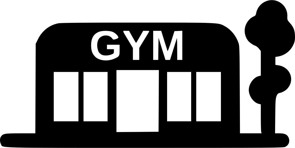 Sport training svg png. Gym clipart gymnasium building