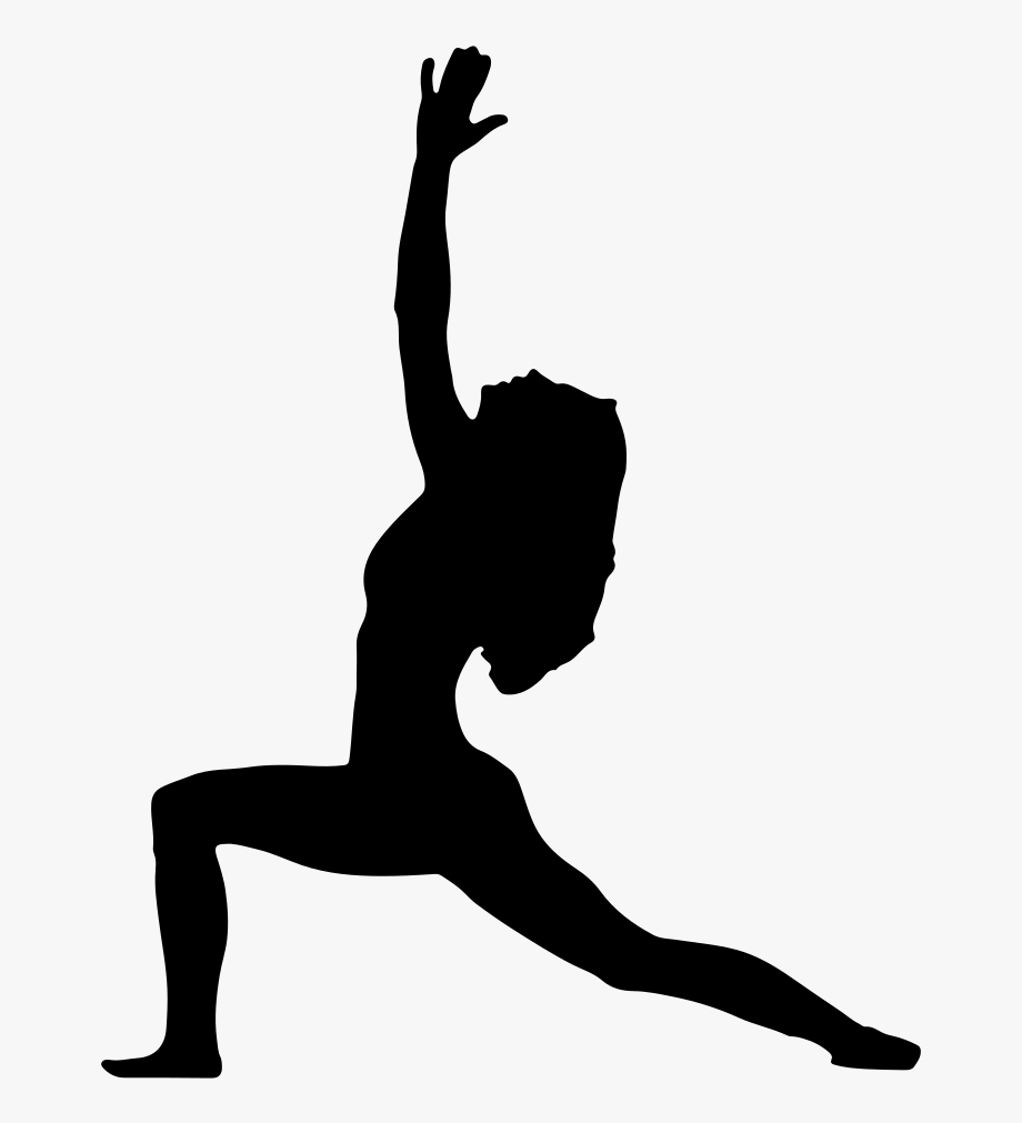 Free pose silhouette . Fitness clipart yoga