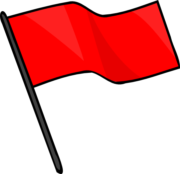 Capture the red clip. Flag clipart