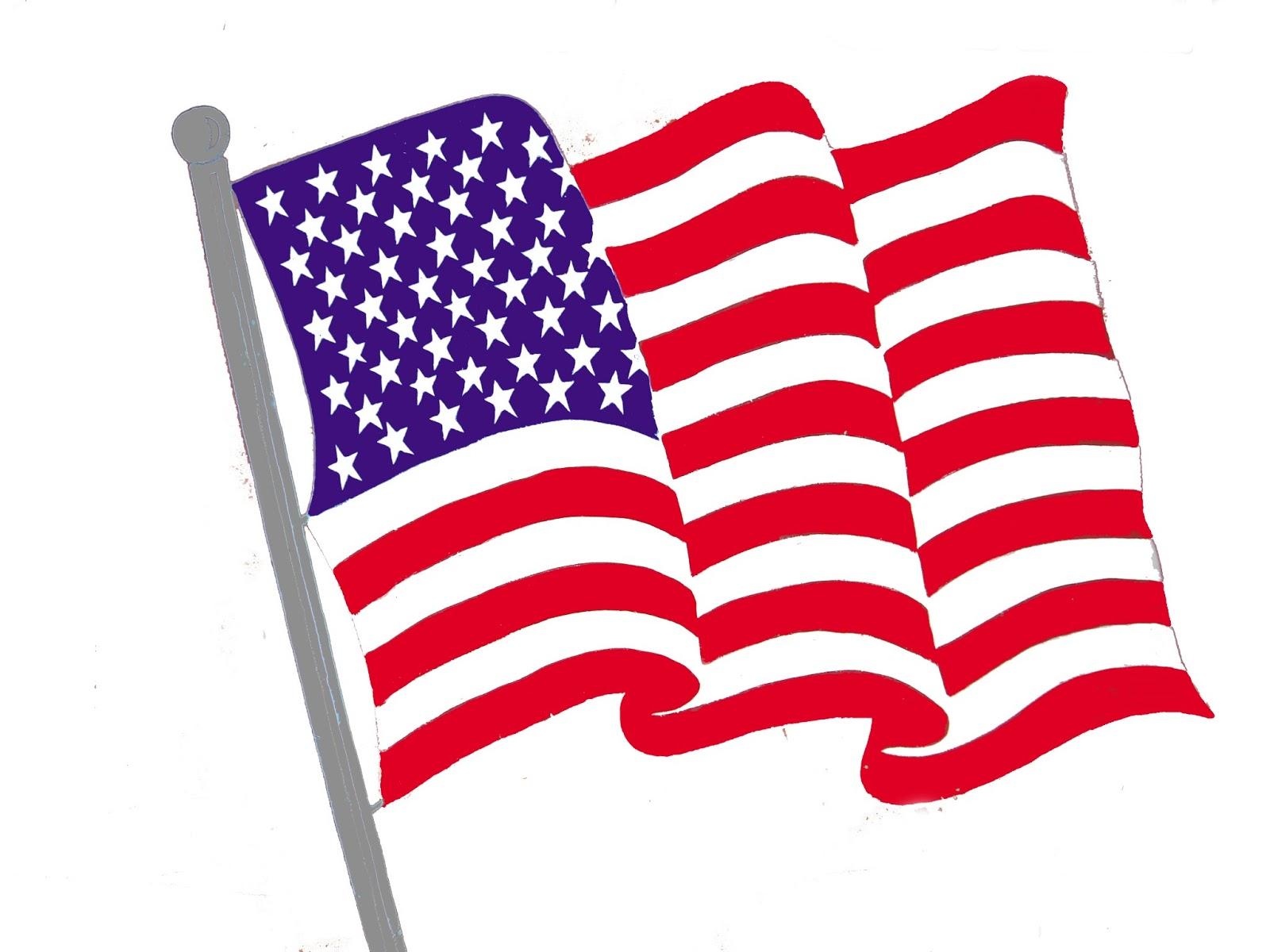 American flag clip art. July clipart banner usa