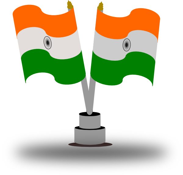 Indian clip art at. Flag clipart animated