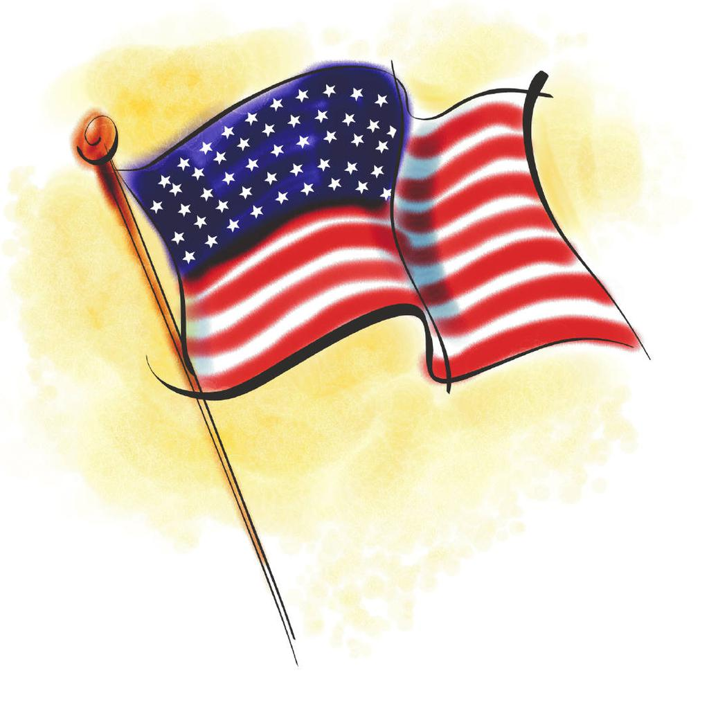 Free flags united american. Flag clipart animated