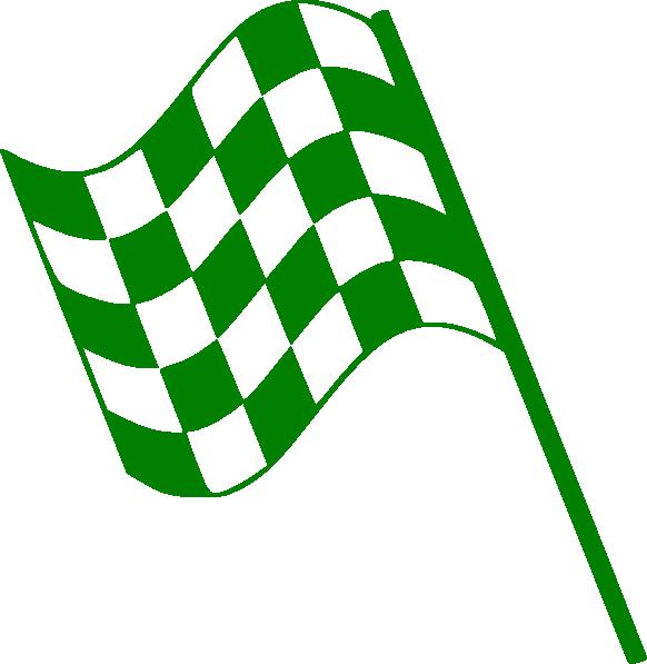 Green flag clip art. Race clipart foot race
