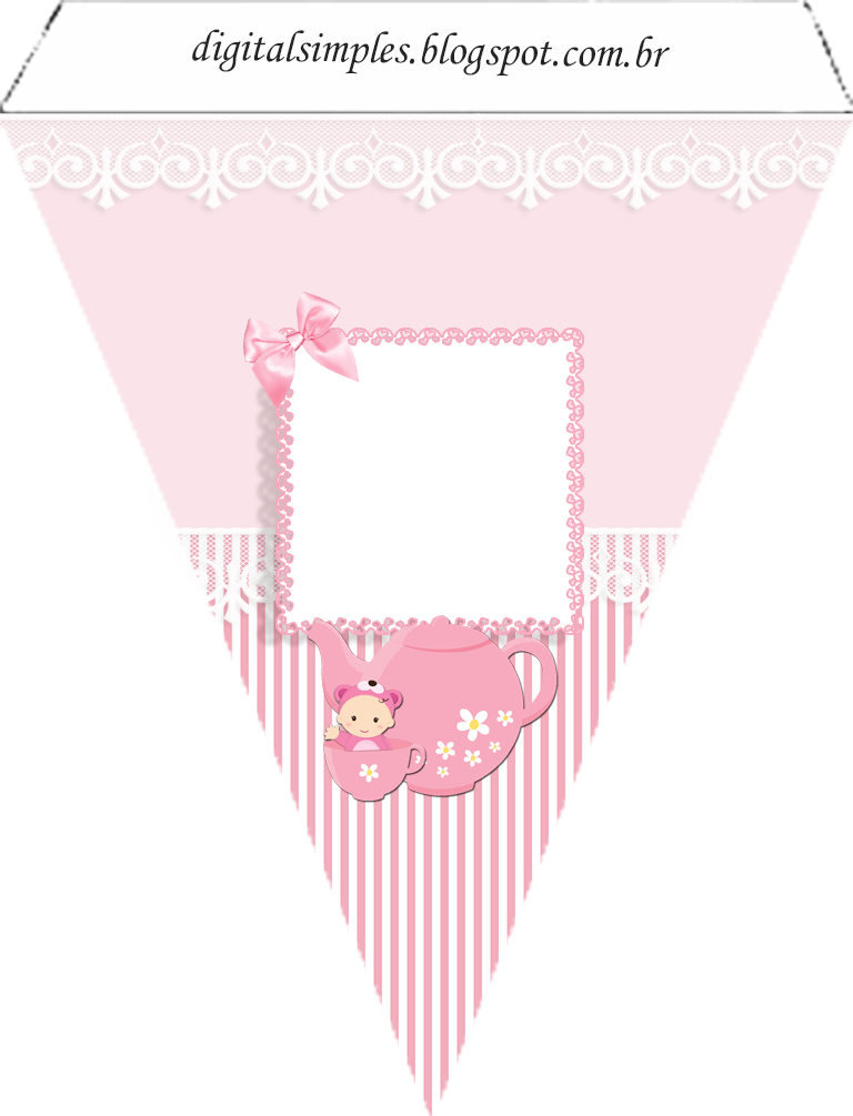 Kit personalizado ch de. Flag clipart baby shower