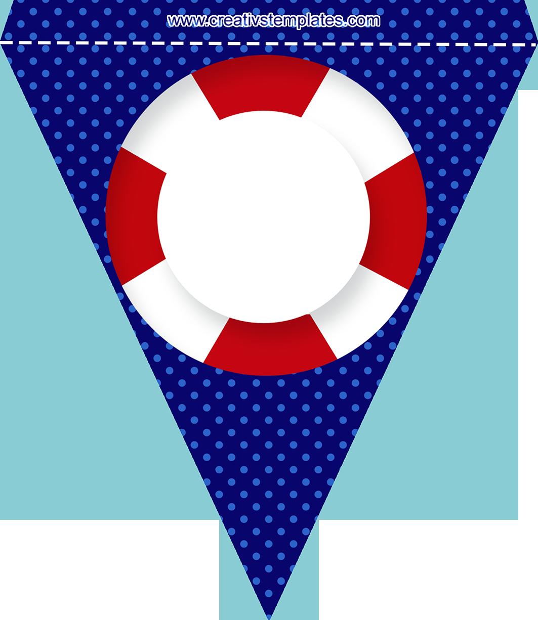 Bandeirola para nome kartki. Flag clipart baby shower