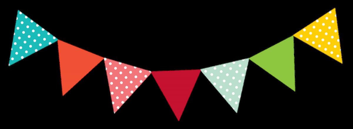 Flag bunting pennon clip. Garden clipart banner