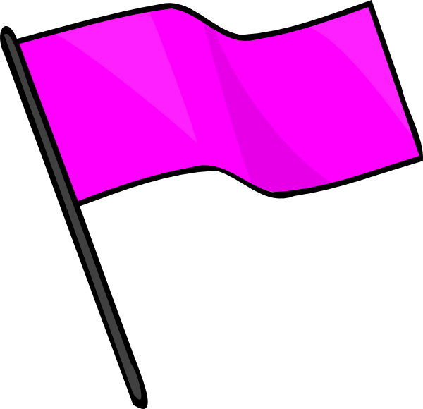 Pink clip art at. Free clipart flag