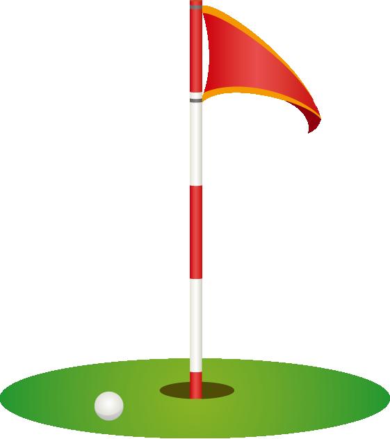 Golfer clipart doom. Golf hole flag