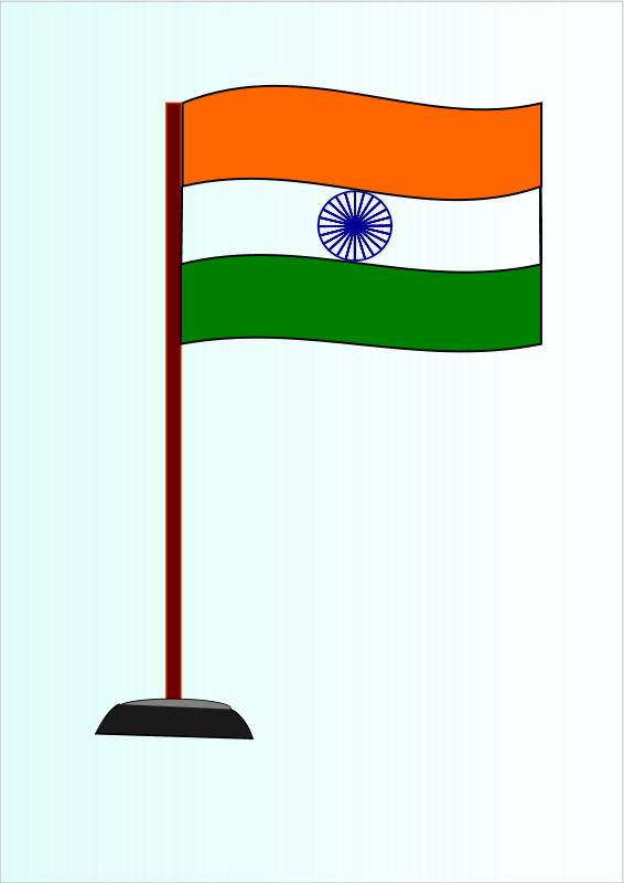 Flag of india drawing. Indians clipart cute
