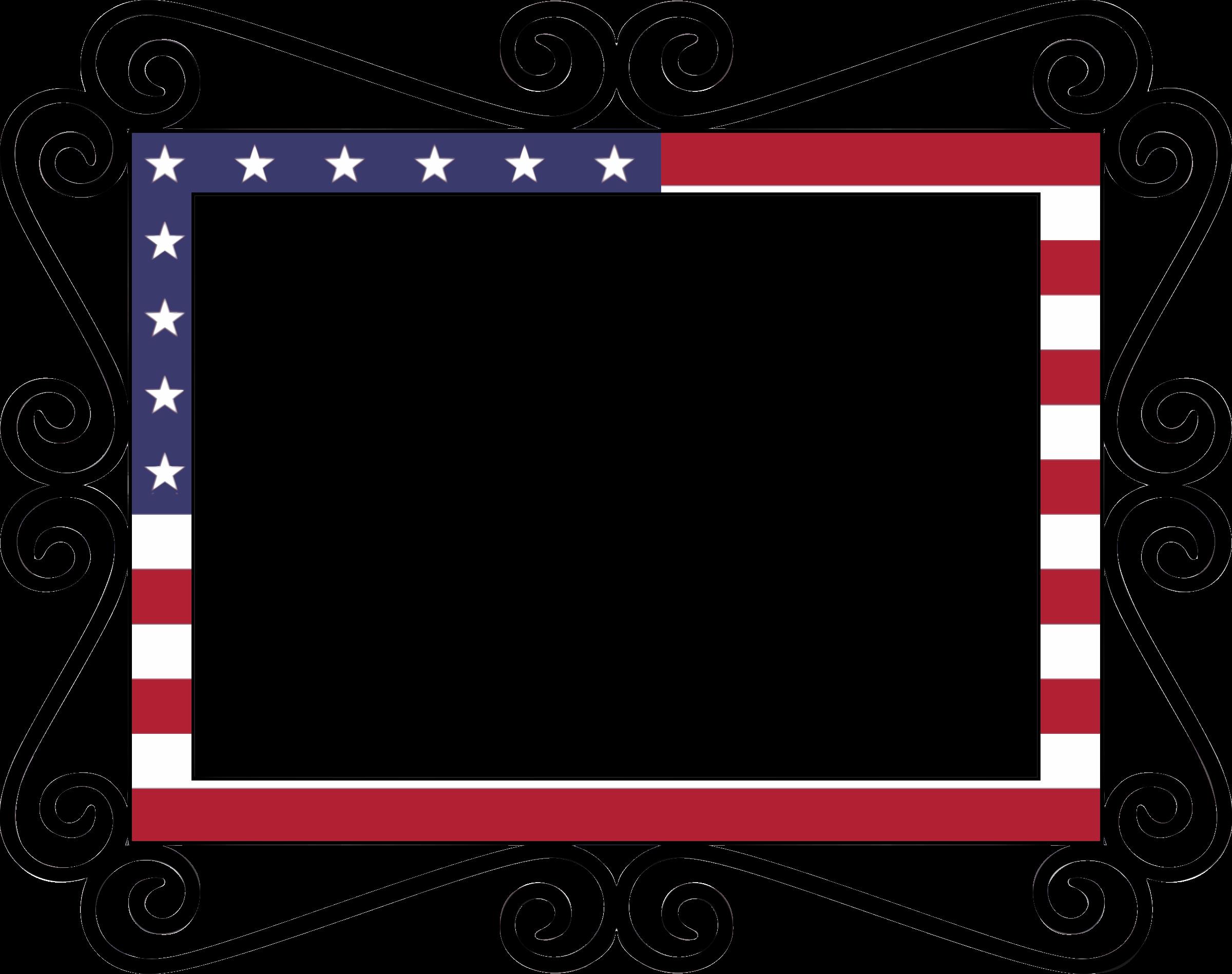 flag clipart frame