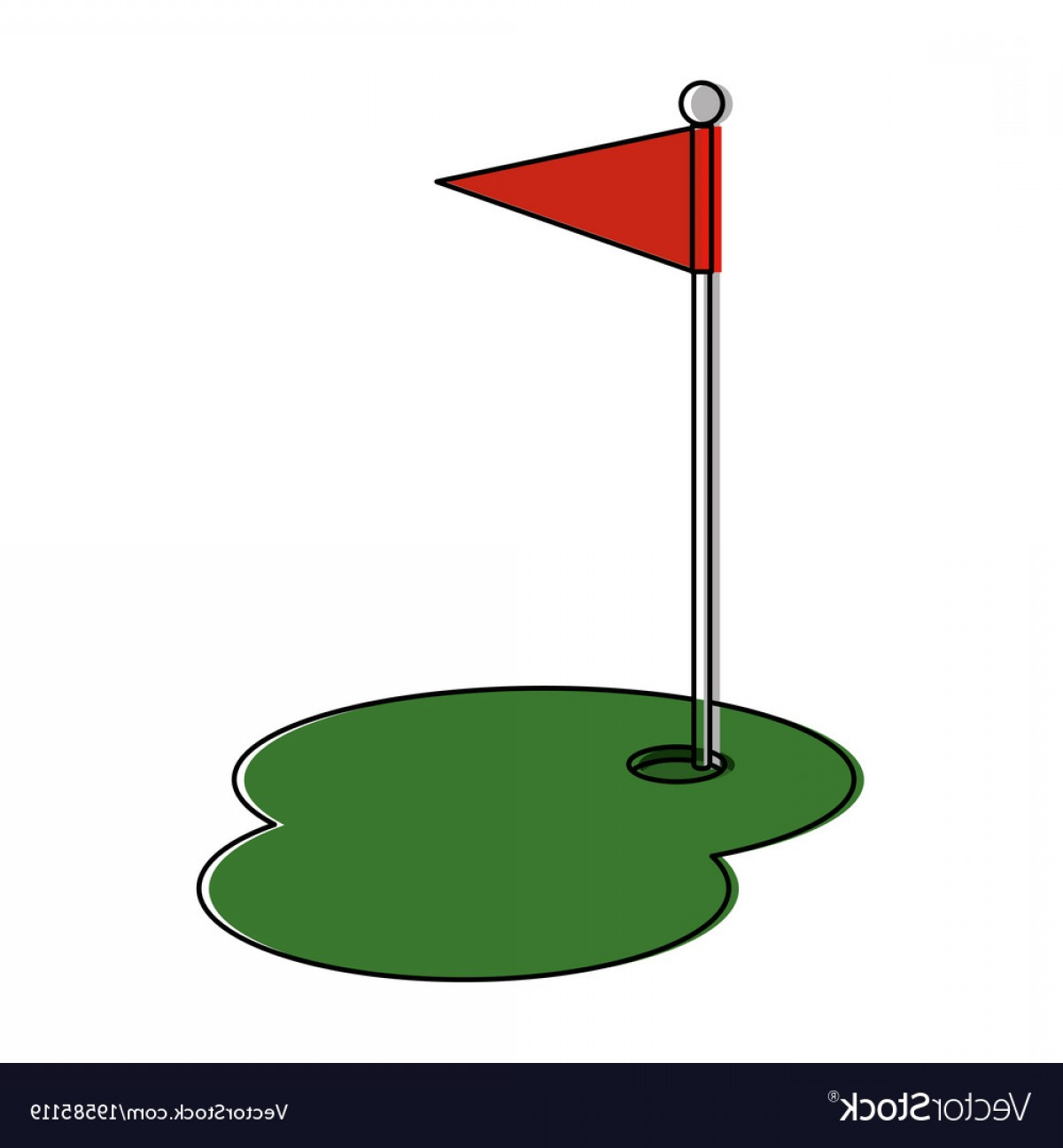 Drawing free download best. Golf clipart flag