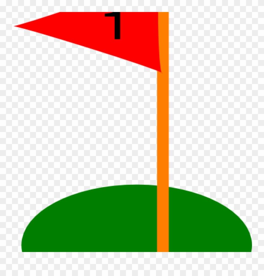 Golf clipart flag. Hole flags ball pencil
