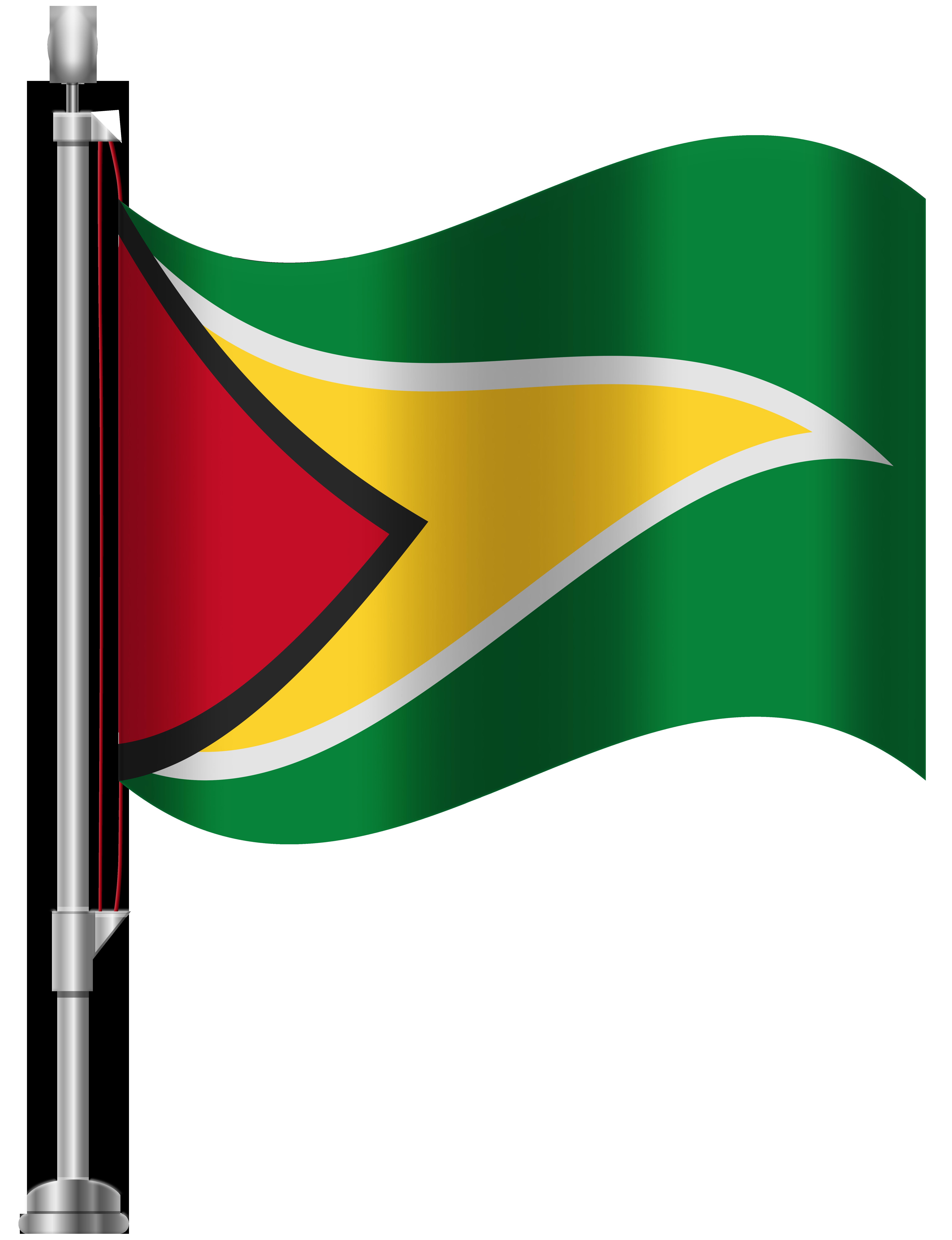 Flag clipart green. Guyana png clip art
