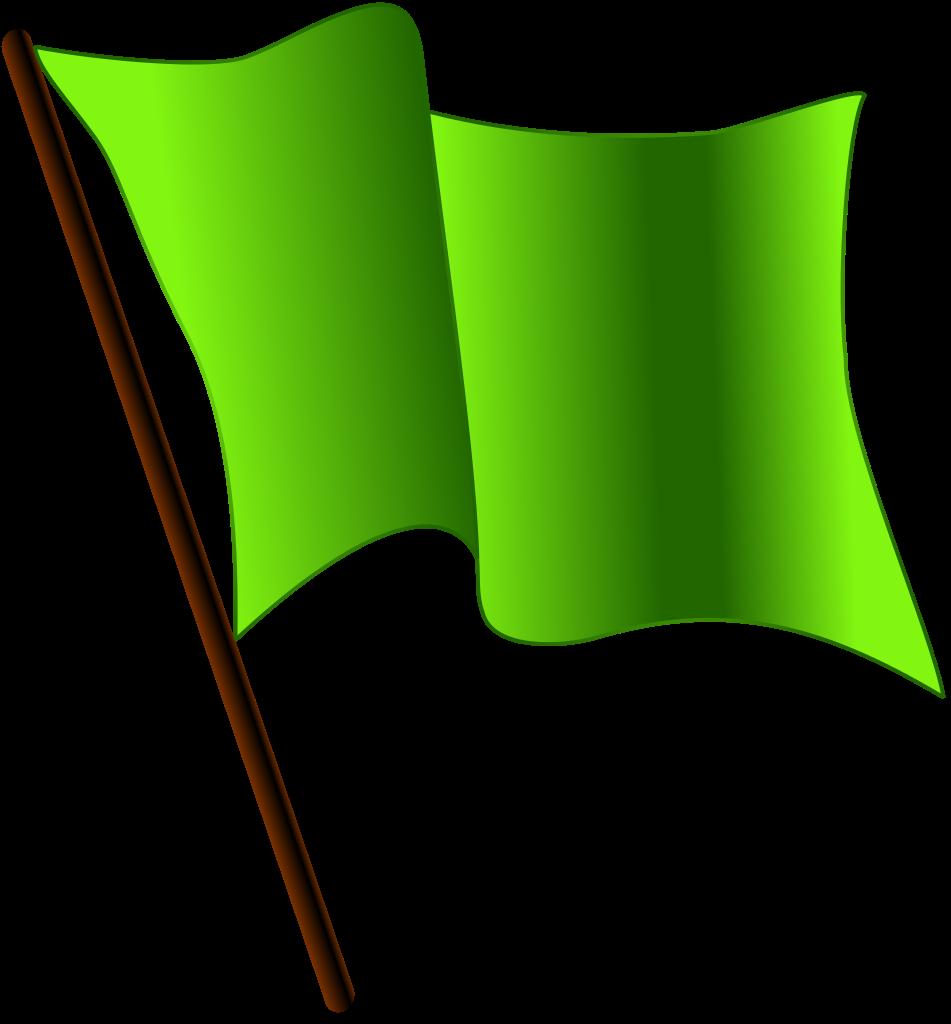 Flag clipart green. File waving svg wikimedia