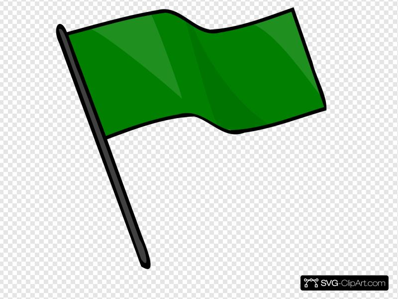 Clip art icon and. Flag clipart green