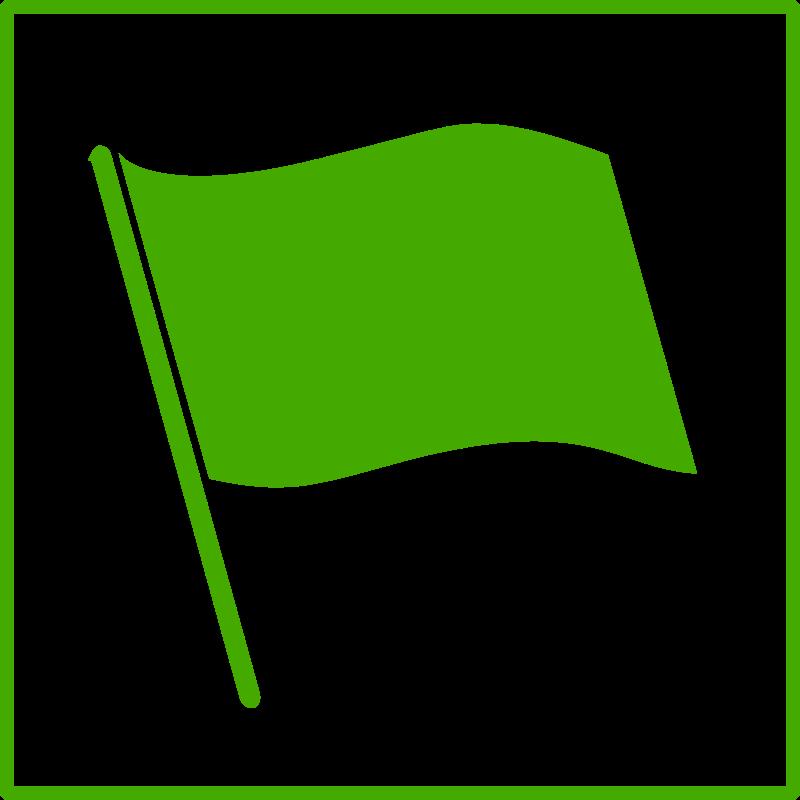 . Flag clipart green
