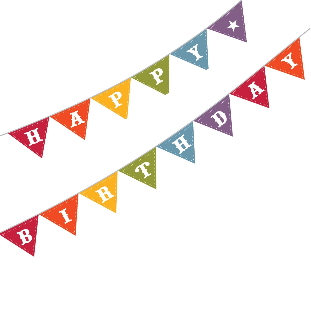 Banner triangle jpg . Flag clipart happy birthday
