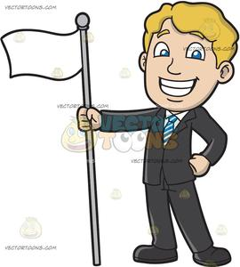 Proud clipart guy. A man holding white