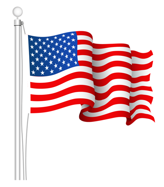 Patriotic clipart one nation. United states flag png