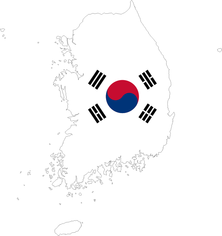 South korea map with. Flag clipart post