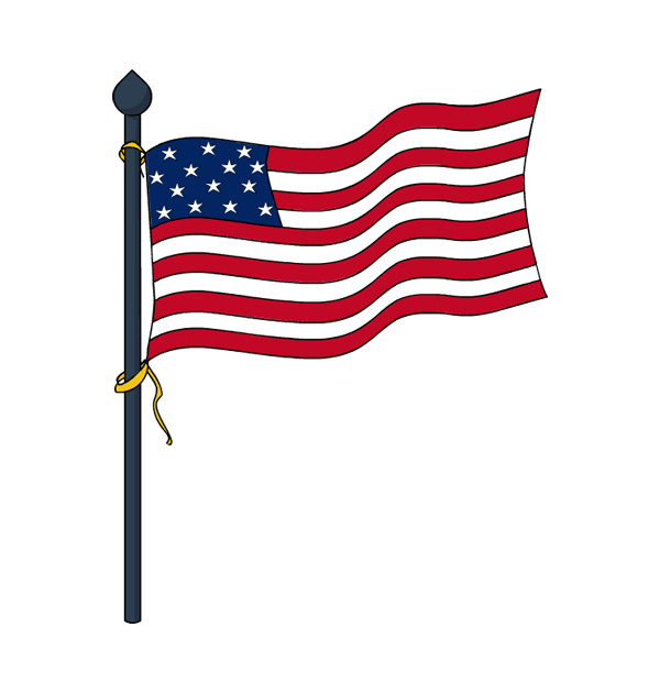 Flag clipart post. Usa memorial day flags