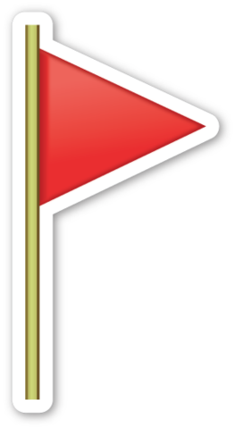 Flag clipart post. Triangular on emoticons extras