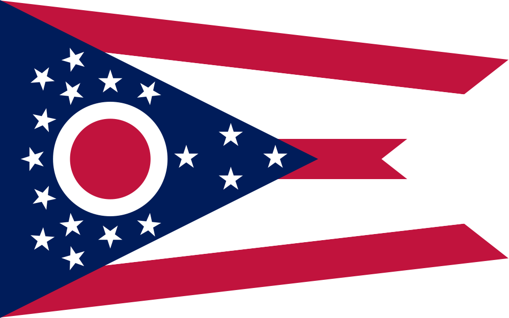 List clipart outline. Ohio state usa flag