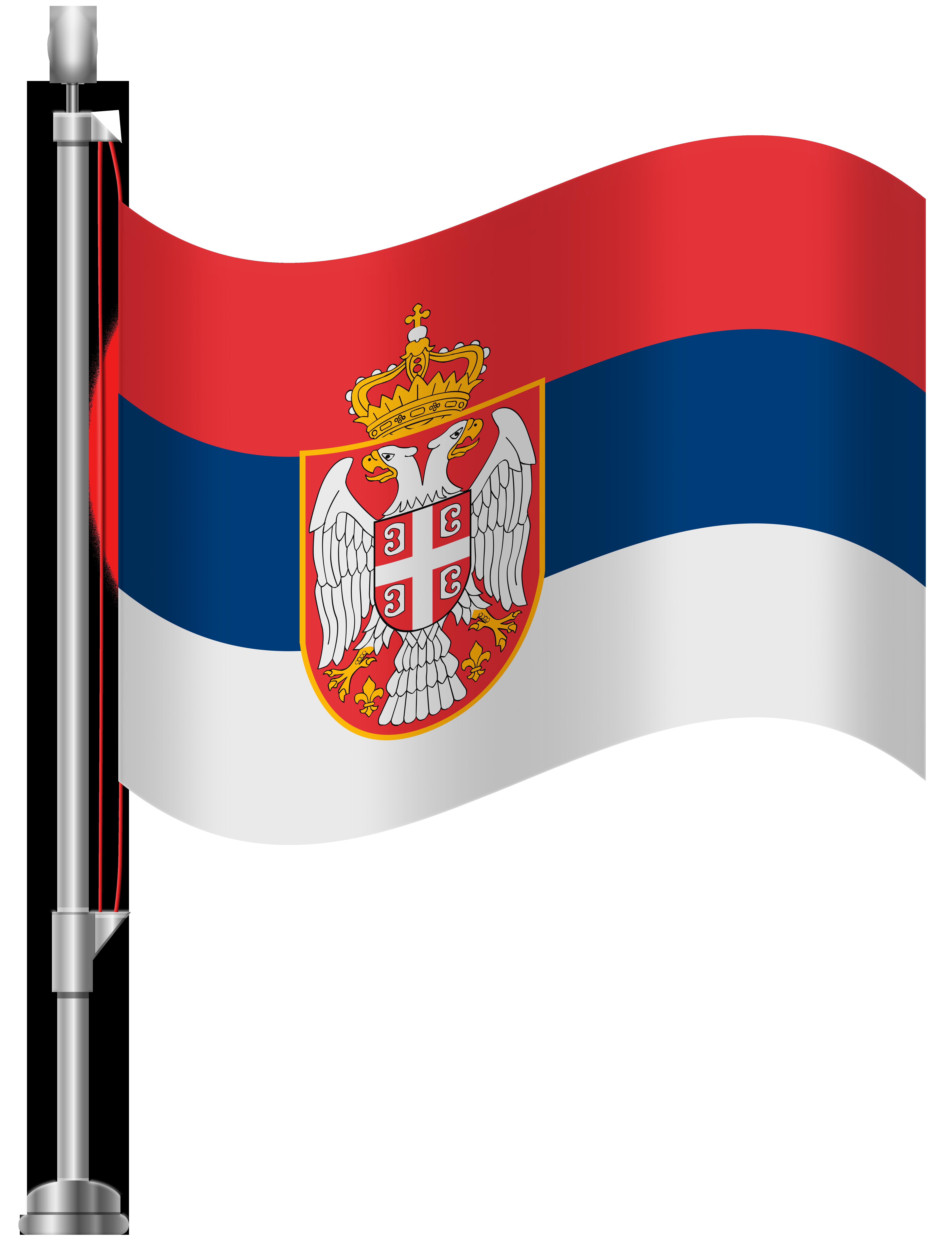 Flag clipart summer. Serbia png clip art