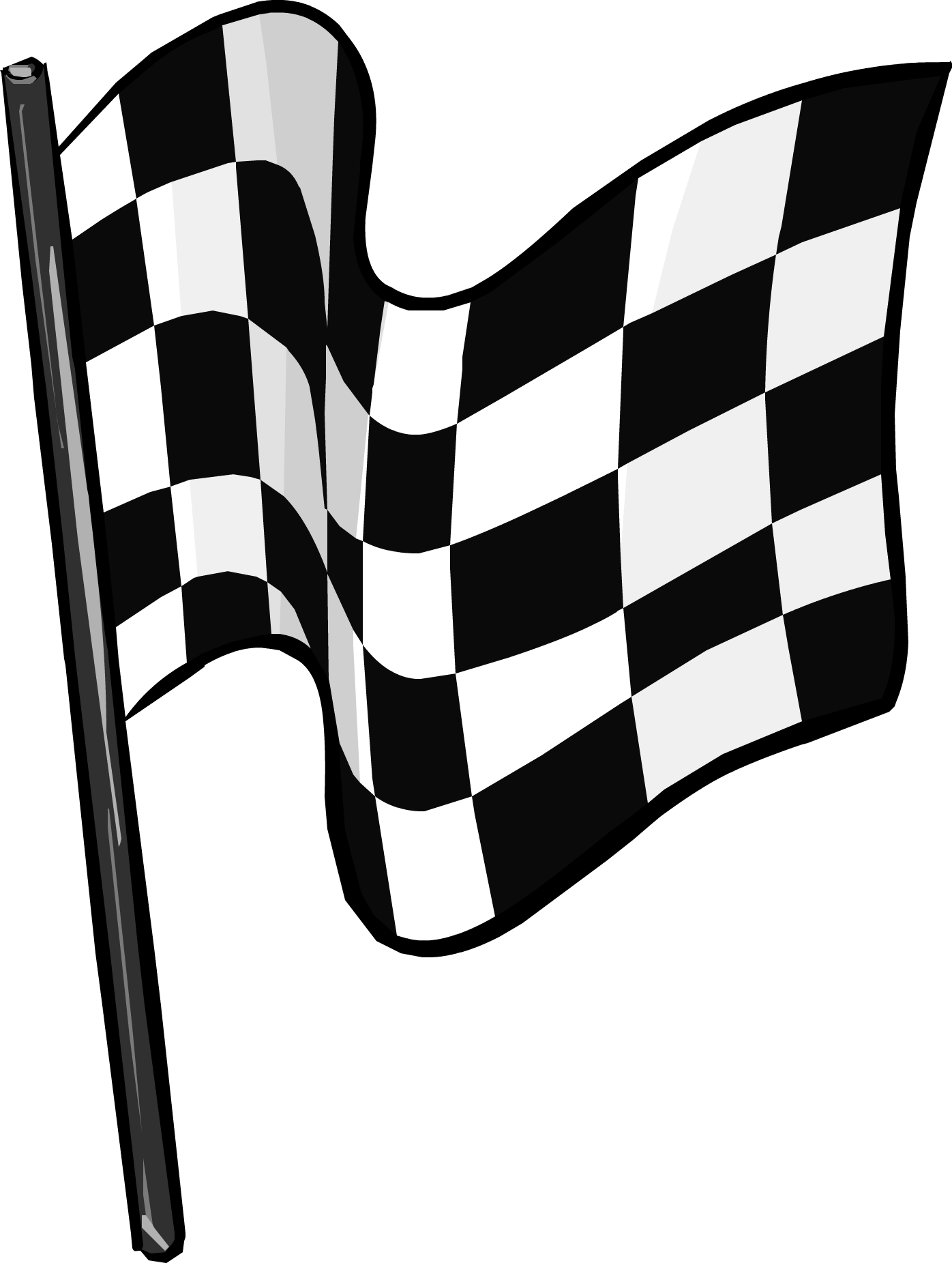 Race clipart starter. Free finish flag icon