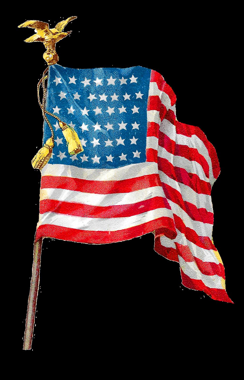 Flags clipart patriotic. Antique images vintage american