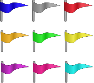 Cliparts image . Flags clipart