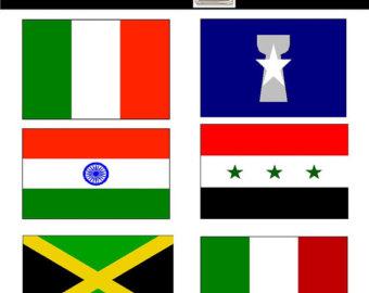 Flags clipart. Flag clip art etsy