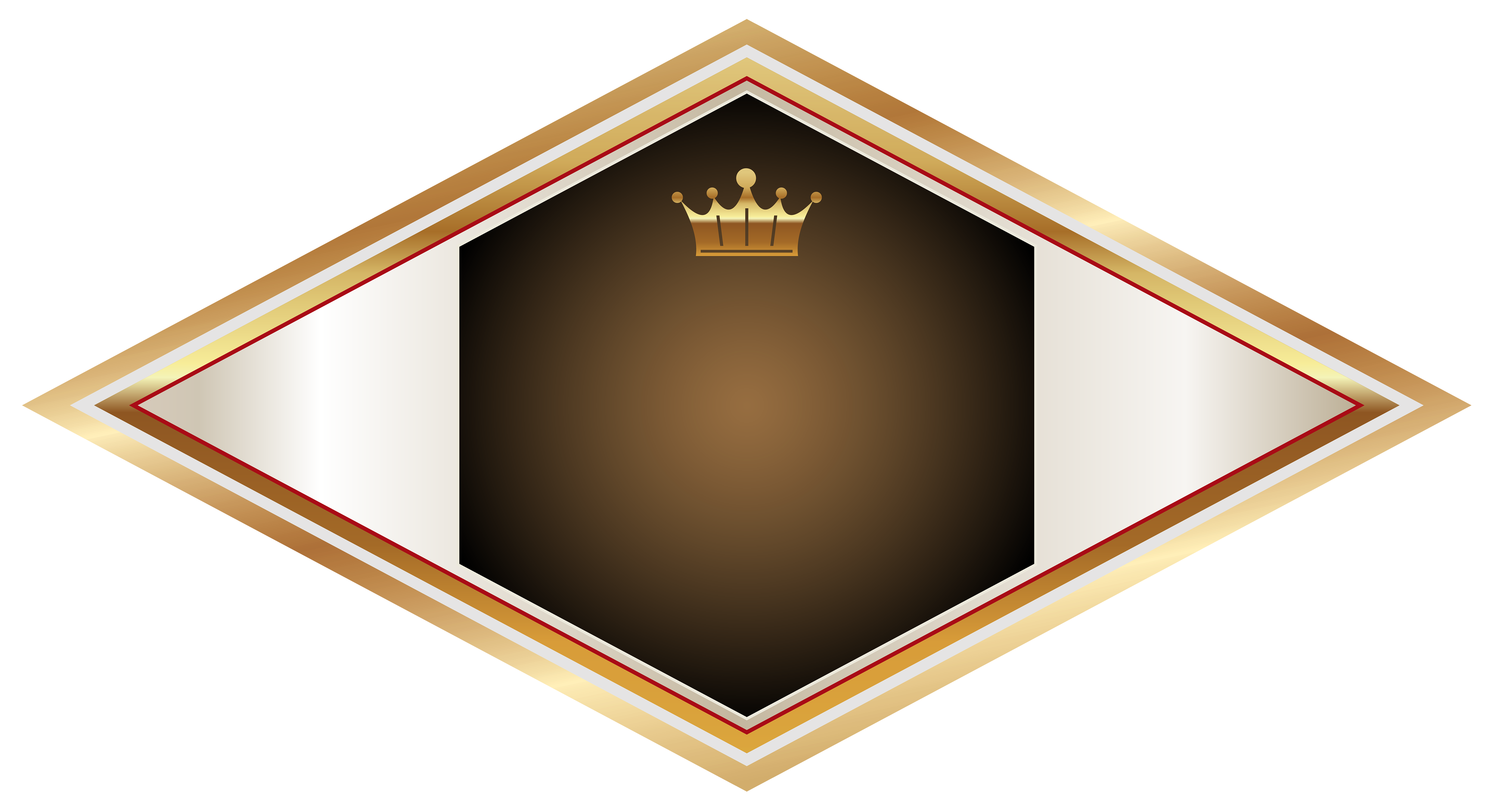 Flags clipart label. Gold and brown with