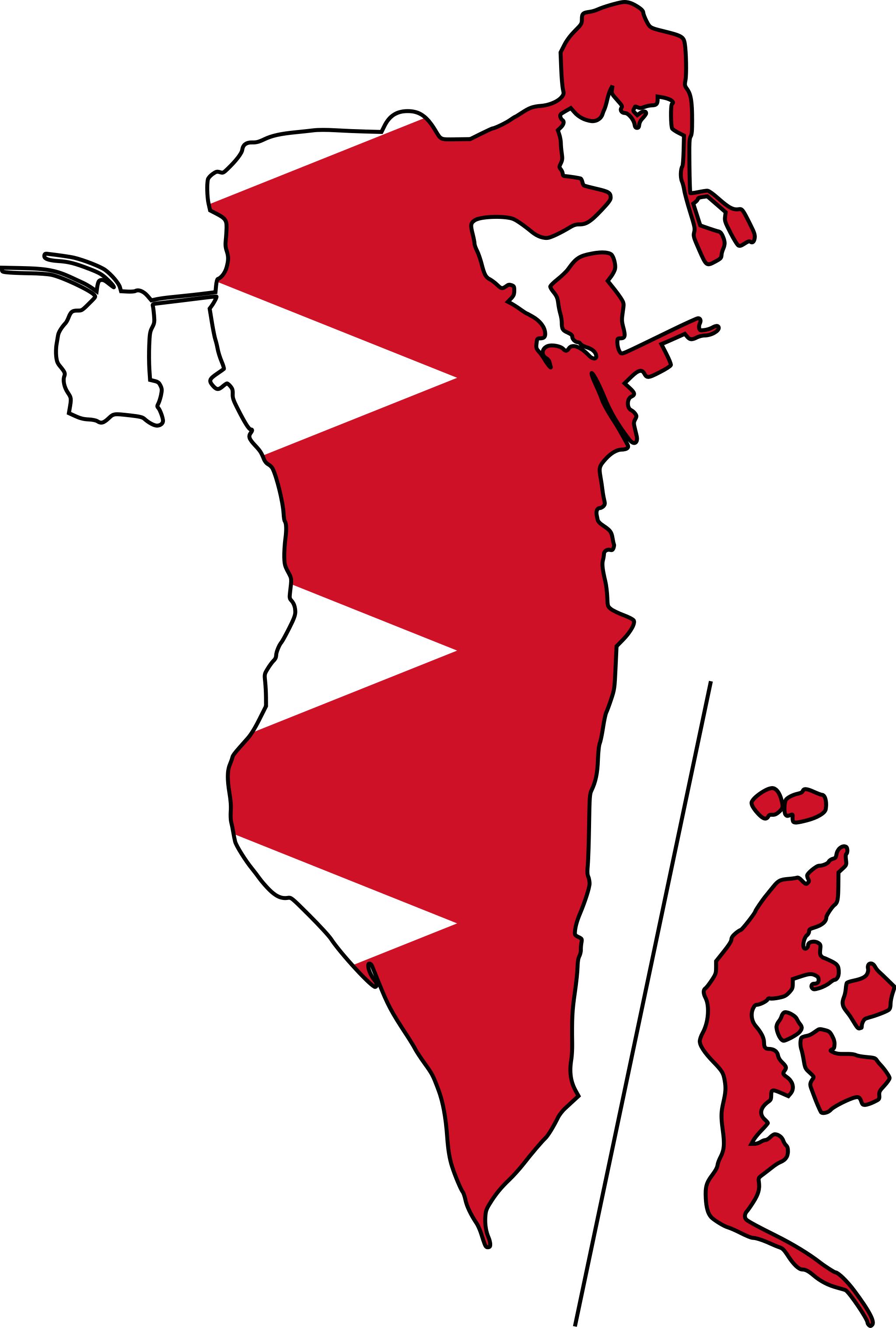 Bahrain map mapsof net. Missions clipart international flag