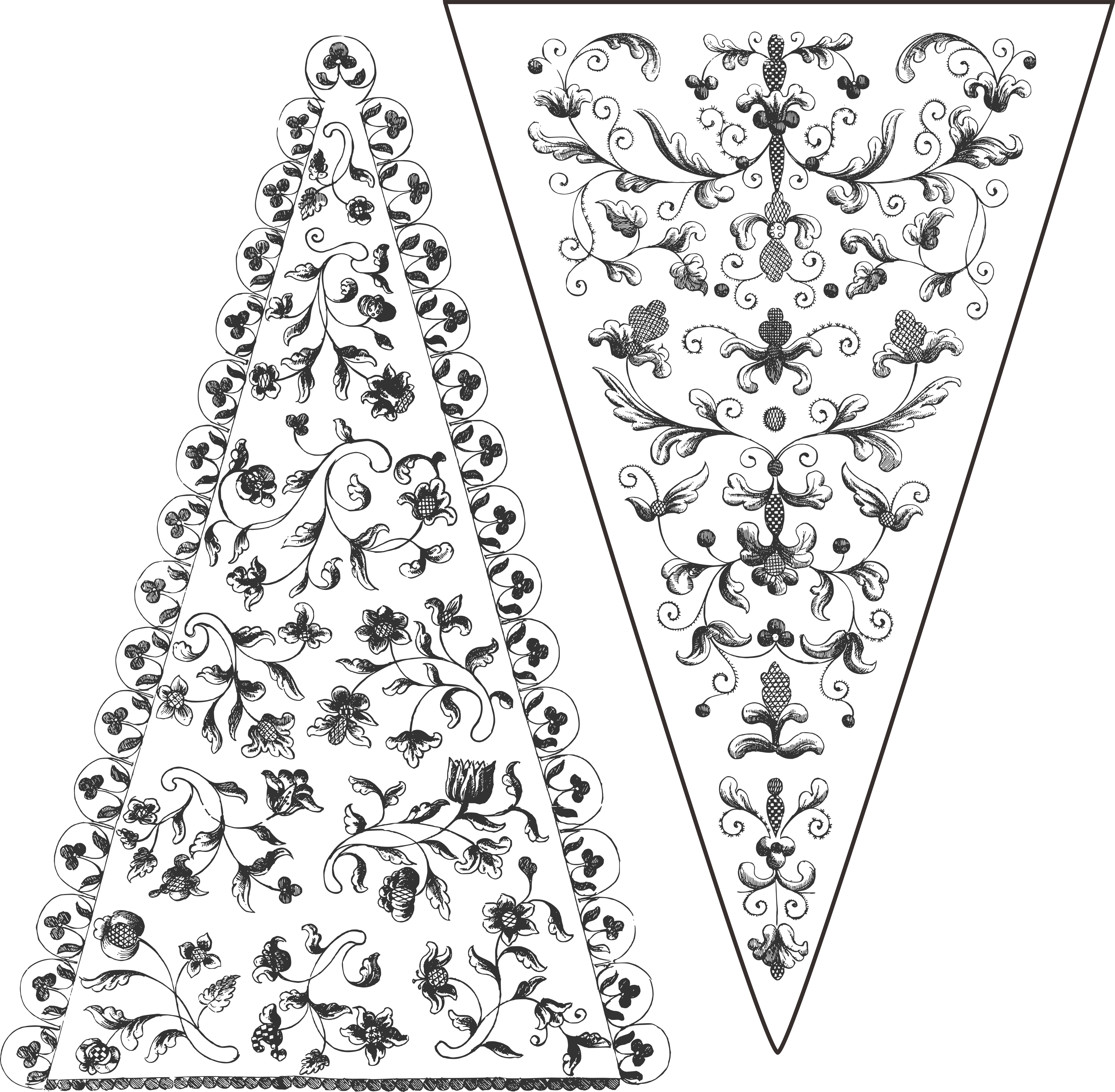 Flags clipart printable. Vintage gypsy bunting clip