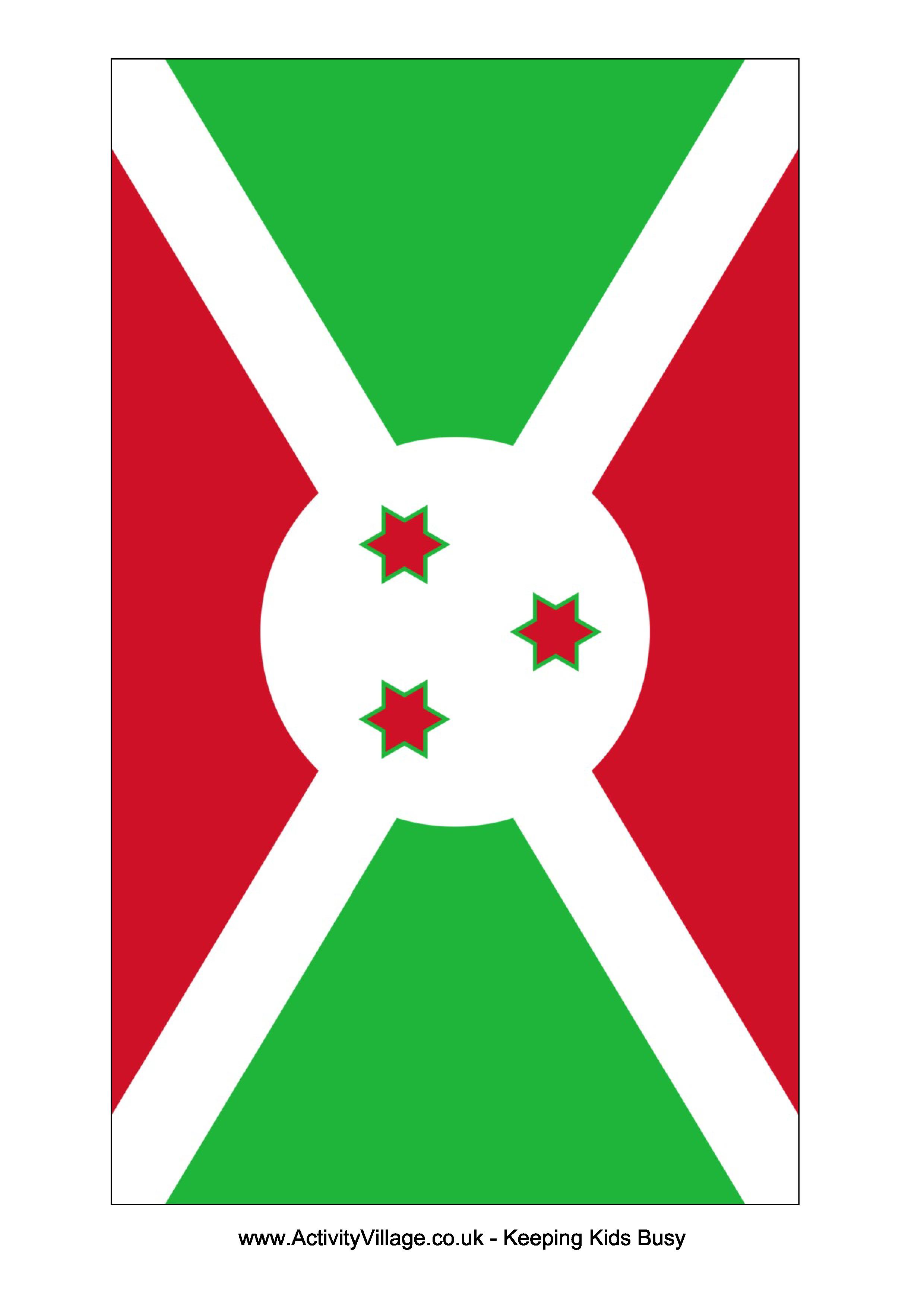 Flags clipart printable. Burundi flag free templates