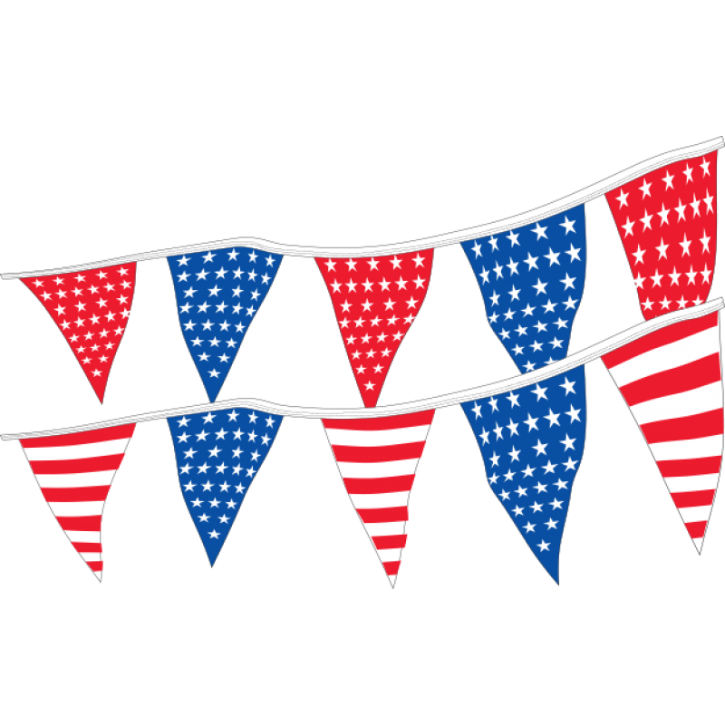 Patriotic pennants us auto. Triangular clipart pennant