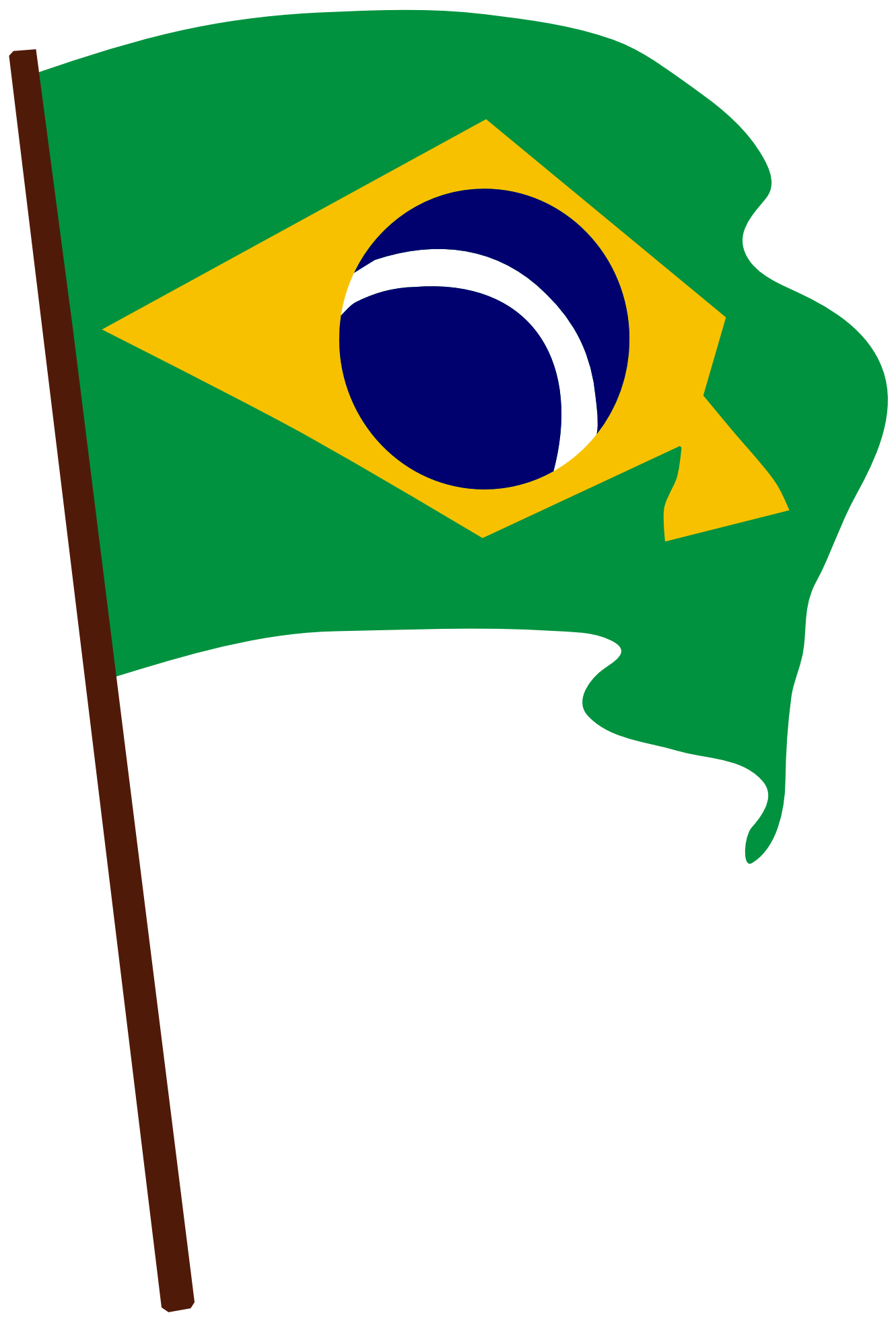 Flags clipart team. Brazil flag vector free