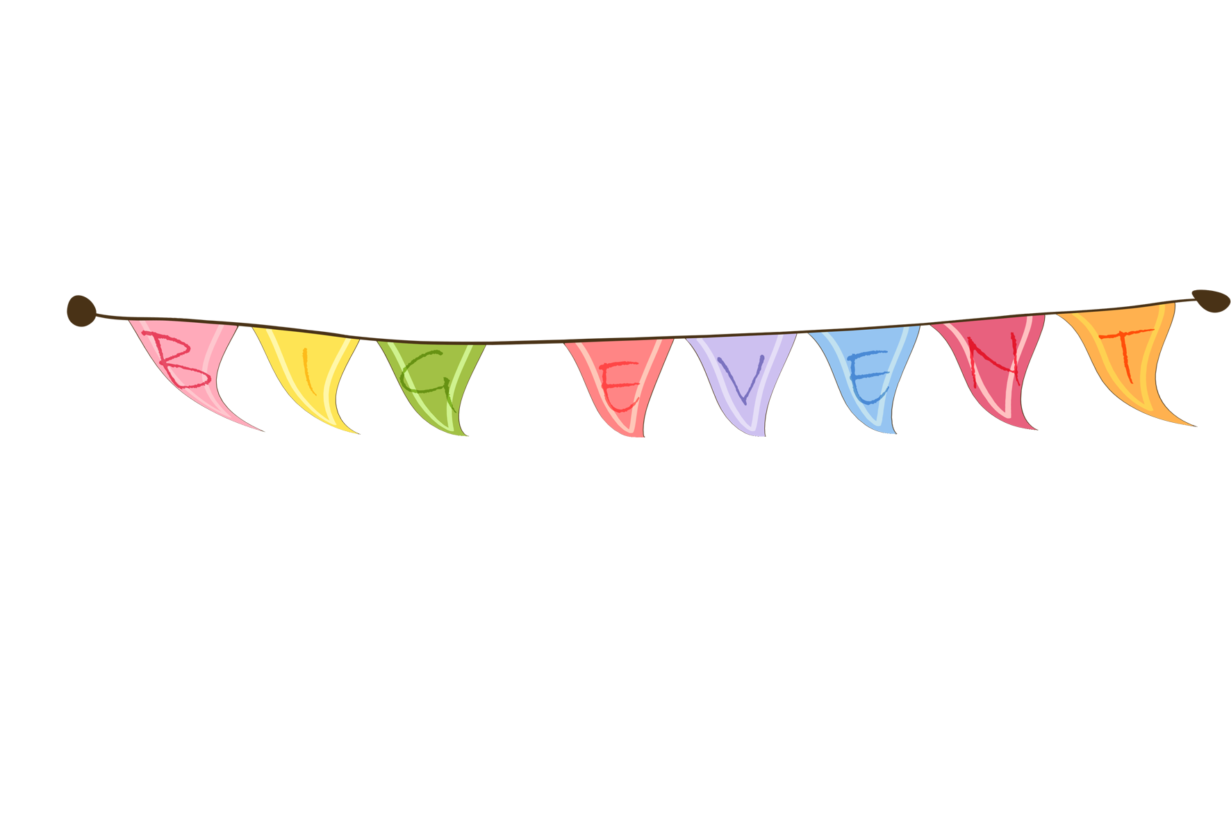 Triangular clipart festival banner. Flag poster small colored