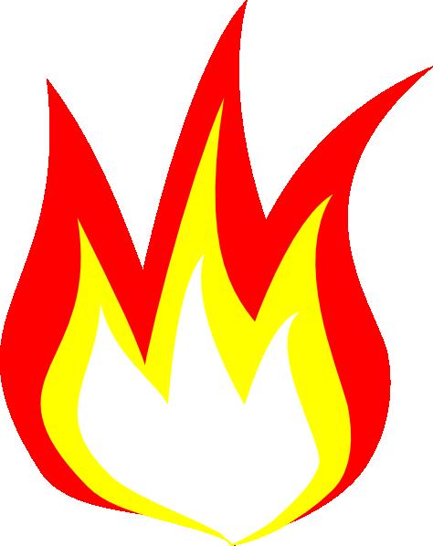 Cartoon flames . Flame clipart