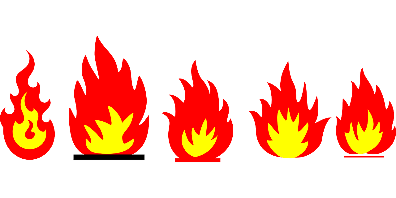 collection of drawing. Flame clipart blaze