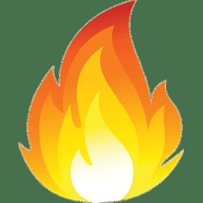 Cartoon fire flames png. Flame clipart emoji